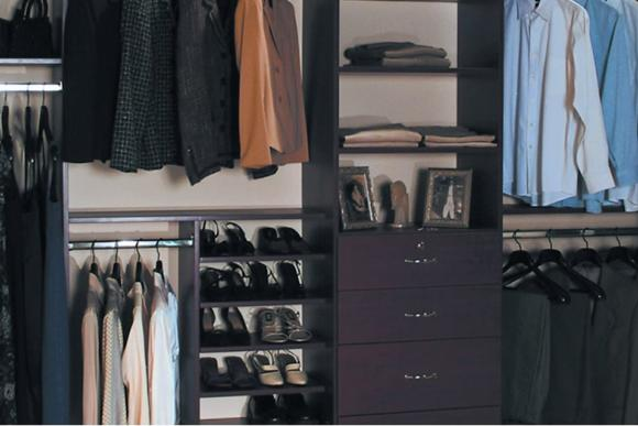 Wardrobe Interior in Wenge Laminate