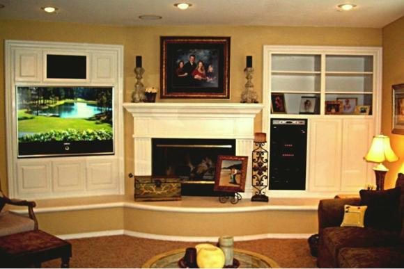 Entertainment Highlighting Fireplace