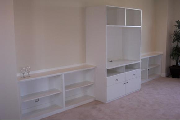 Bookcase and Television Unit