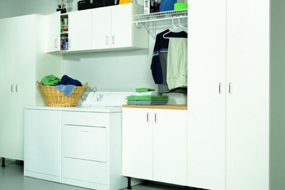 White melamine Cabinets