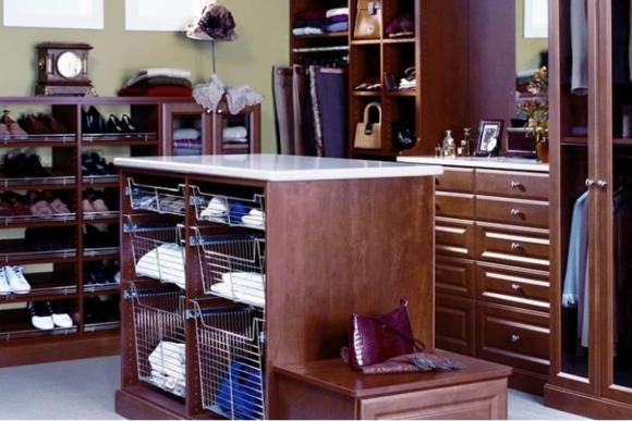Solid walnut wardrobe