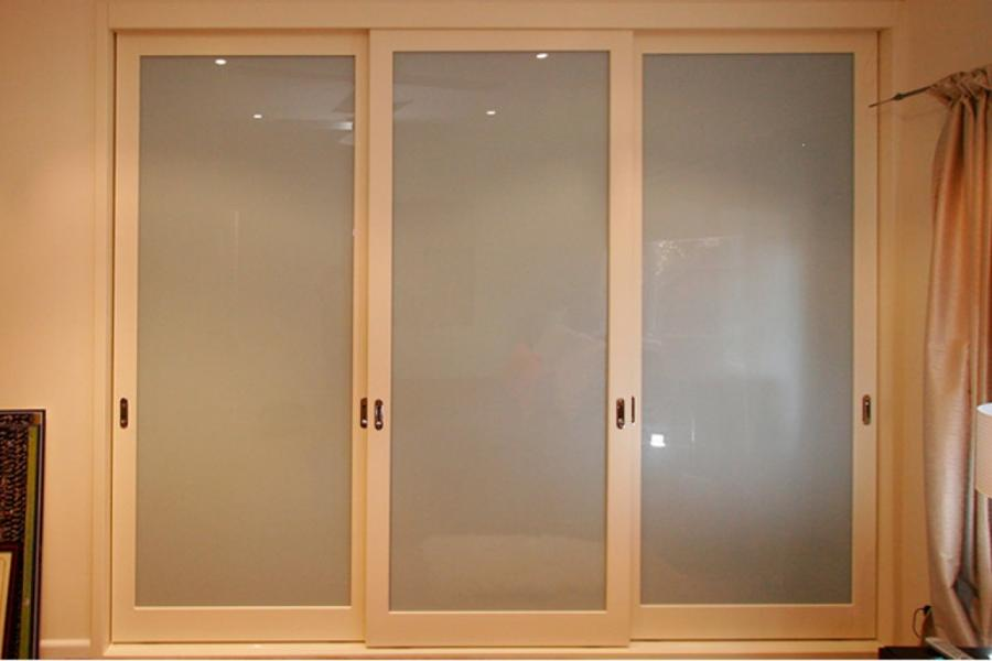 Sliding Wardrobe Door - Grey Frosted Glass