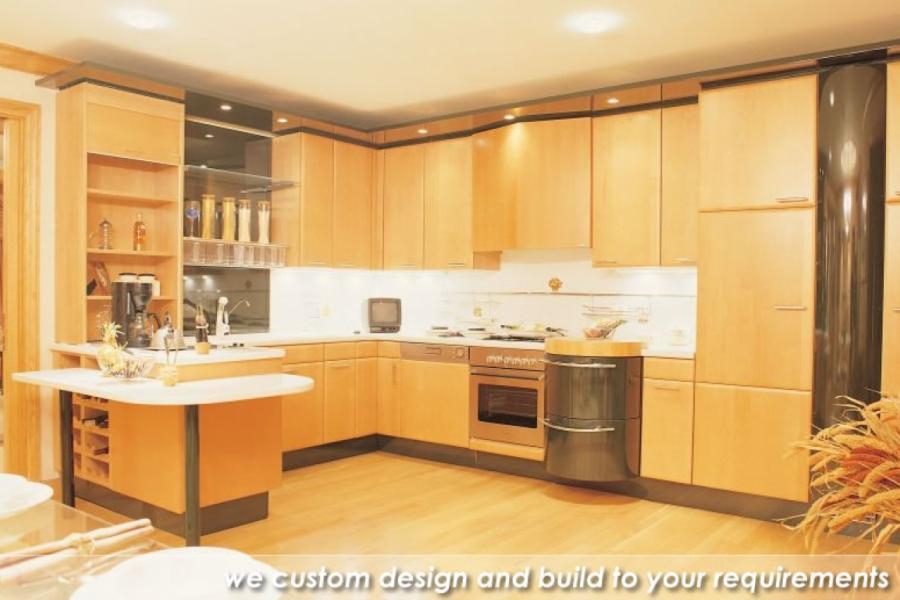 Custom Veneer and Laminate Kitchen